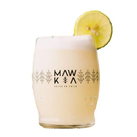 vaso mwk de vidrio 100% reciclado y sustentable hecho por productores locales