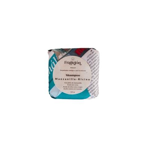 Shampoo en barra manzanilla ricino para cabello crespo 100 gramos de productor local despacho entre 30 y 60 minutos