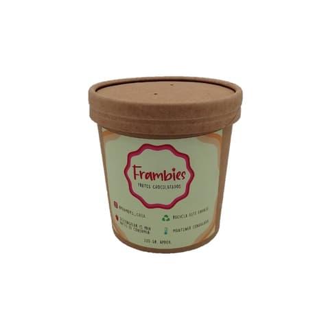 Helado de frambuesa con chocolate de productor local con despacho en 60 minutos.