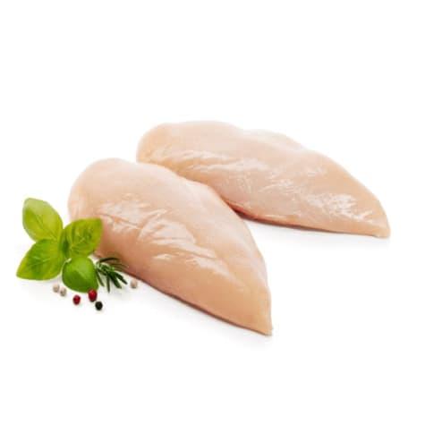pechuga de pollo deshuesada 800g congelada iqf
