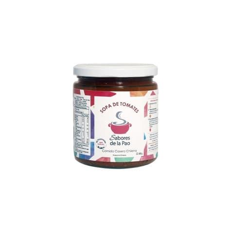 Sopa de tomates en envase de vidrio 400 gramos de productor chileno despacho entre 30 y 60 minuto