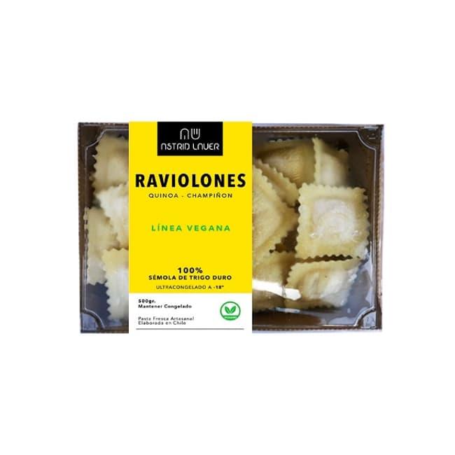 Raviolones veganos de quínoa con champiñón de productor local delivery entre 30 y 60 minutos