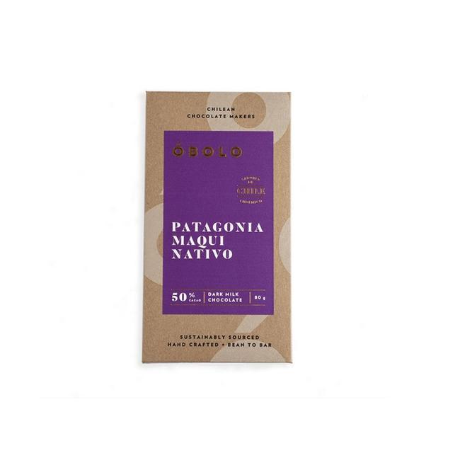 Chocolate óbolo Patagonia Maqui Nativo 50% Cacao 80 Grs 0