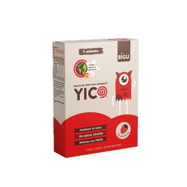 Caja 5 unidades de rollos de frutilla 25 grs de productor local despacho entre 30 y 60 minutos
